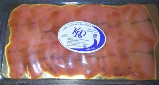 500gm pack of sliced wild irish smoked salmon